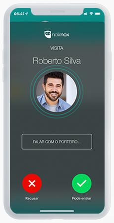 Tela de liberar visitante no app